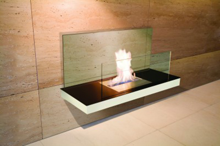 Wall mounted inside fireplace - Ambience Eco Fires