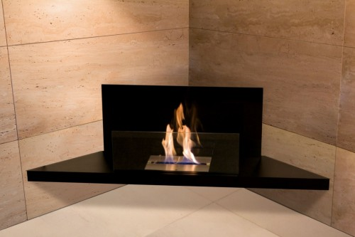 Corner flame fireplace - Ambience Eco Fires