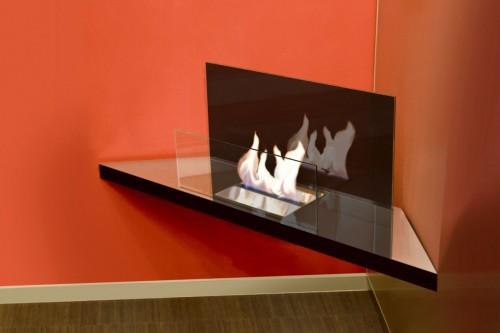 Corner flame inside eco fire - Ambience Eco Fires