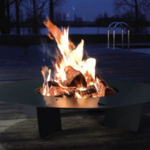 Fire plate outside fireplace - Ambience Eco Fires