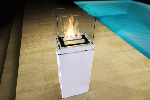 High flame outside eco friendly fireplace - Ambience Eco Fires