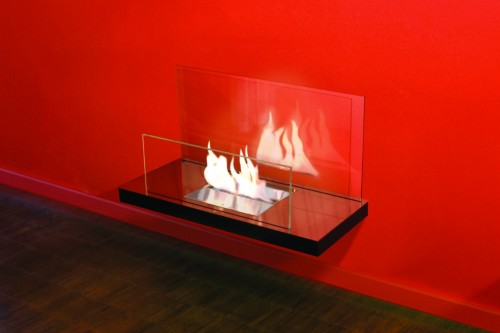 Inside designer fireplace - Ambience Eco Fires