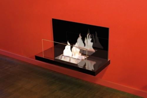 Inside designer bioethanol fireplace - Ambience Eco Fires