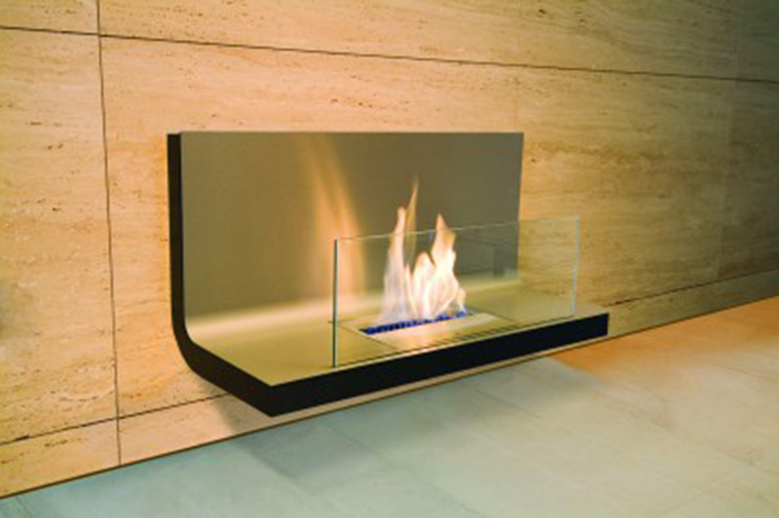 Wall mounted fireplace flame - Ambience Eco Fires
