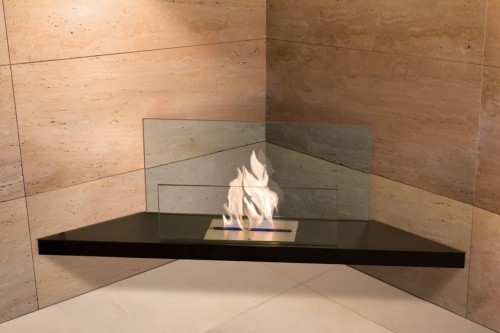 corner flame eco fireplace - Ambience Eco Fires