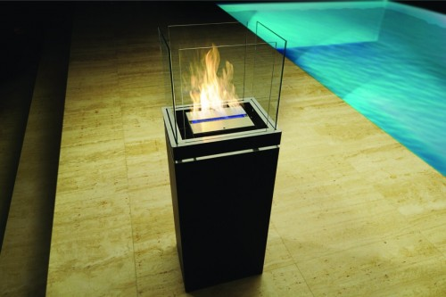 outside high flame fireplace - Ambience Eco Fires