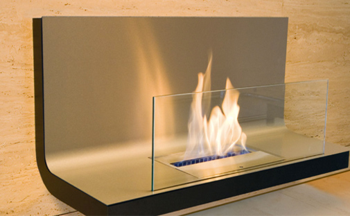 inside wall mounted fireplace - Ambience Eco Fires