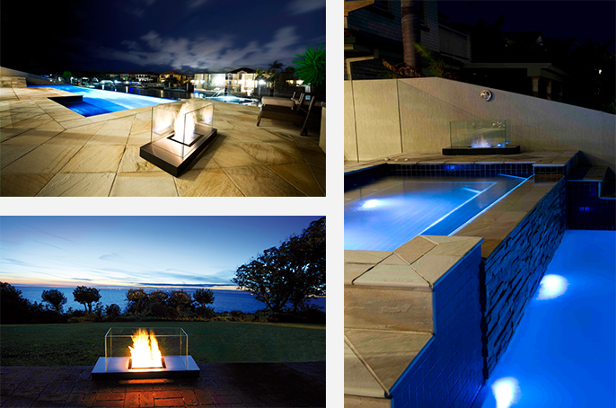 Outdoor Eco Friendly Fireplace - Ambience Eco Fires