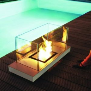 Outside designer fireplace eco friendly - Ambience Eco Fires